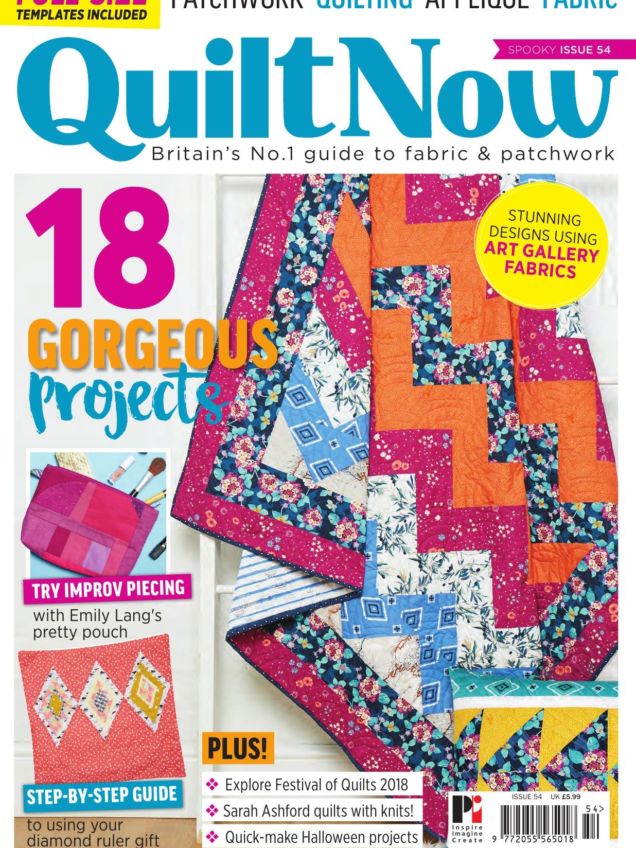 《Quilt Now》英国版时尚拼布杂志2018年09月号