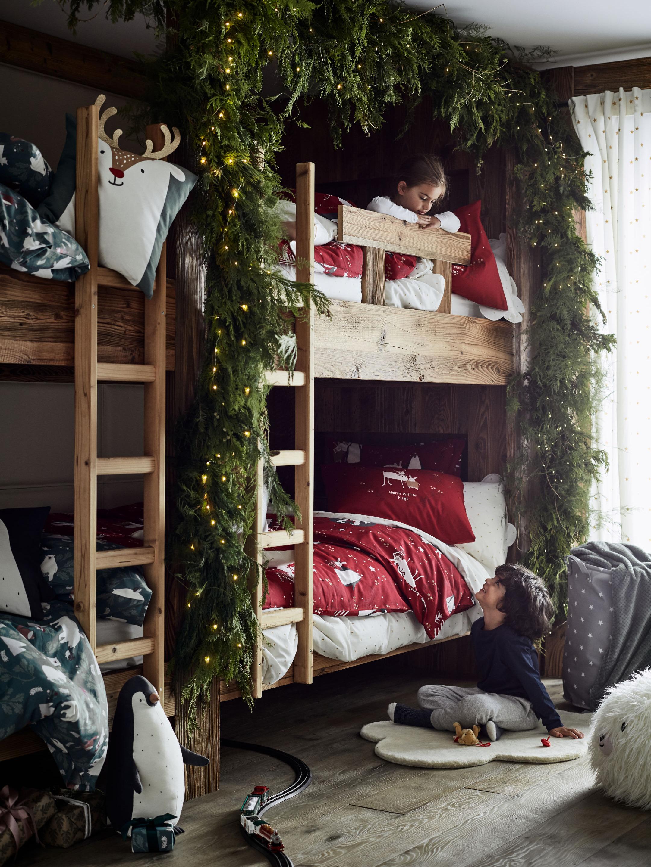 《H&M Home》2018秋冬圣诞节主题家居用品系列Lookbook