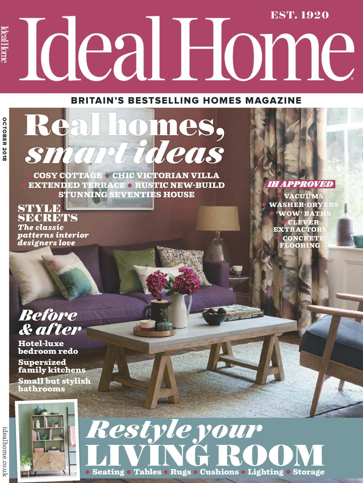 《Ideal Home》英国版理想的家园杂志2018年10月号