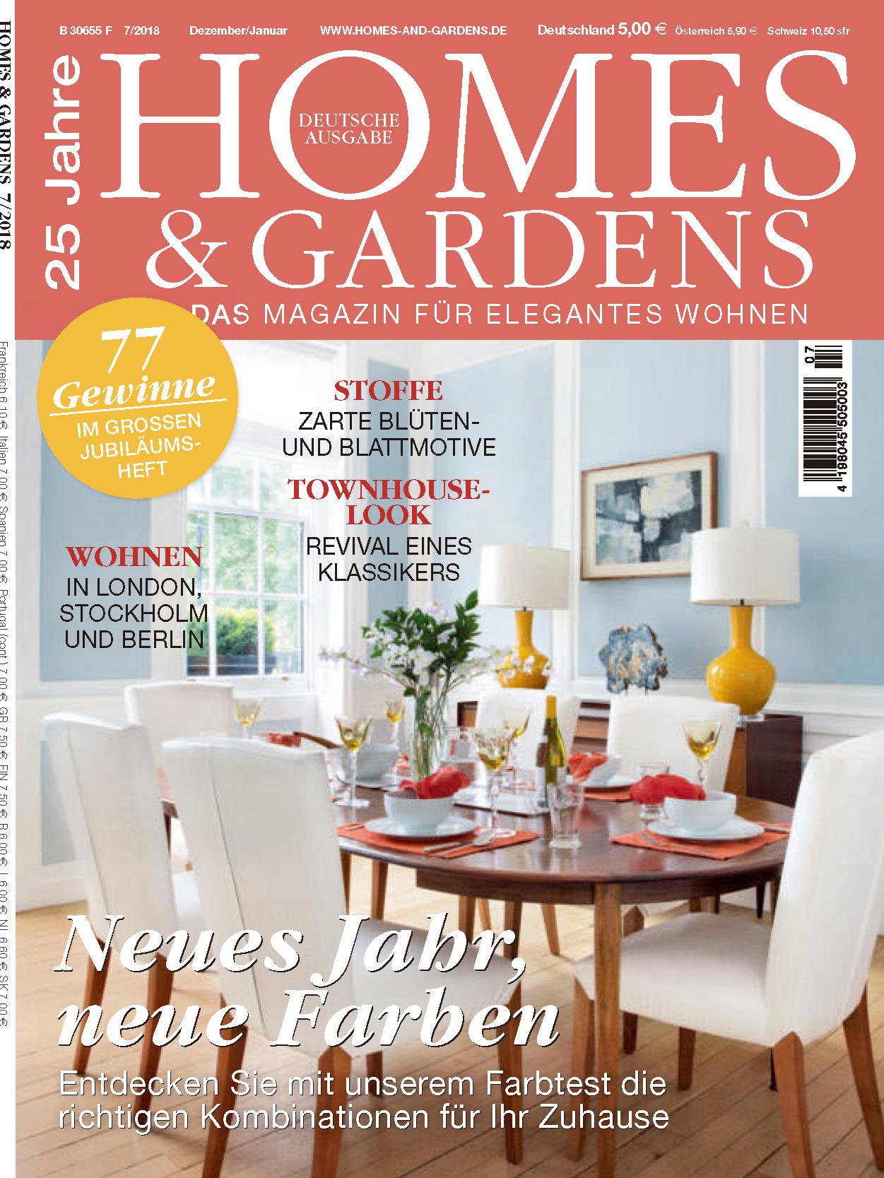 《Homes & Gardens》德国版时尚家居杂志2018年12-2019年01月号