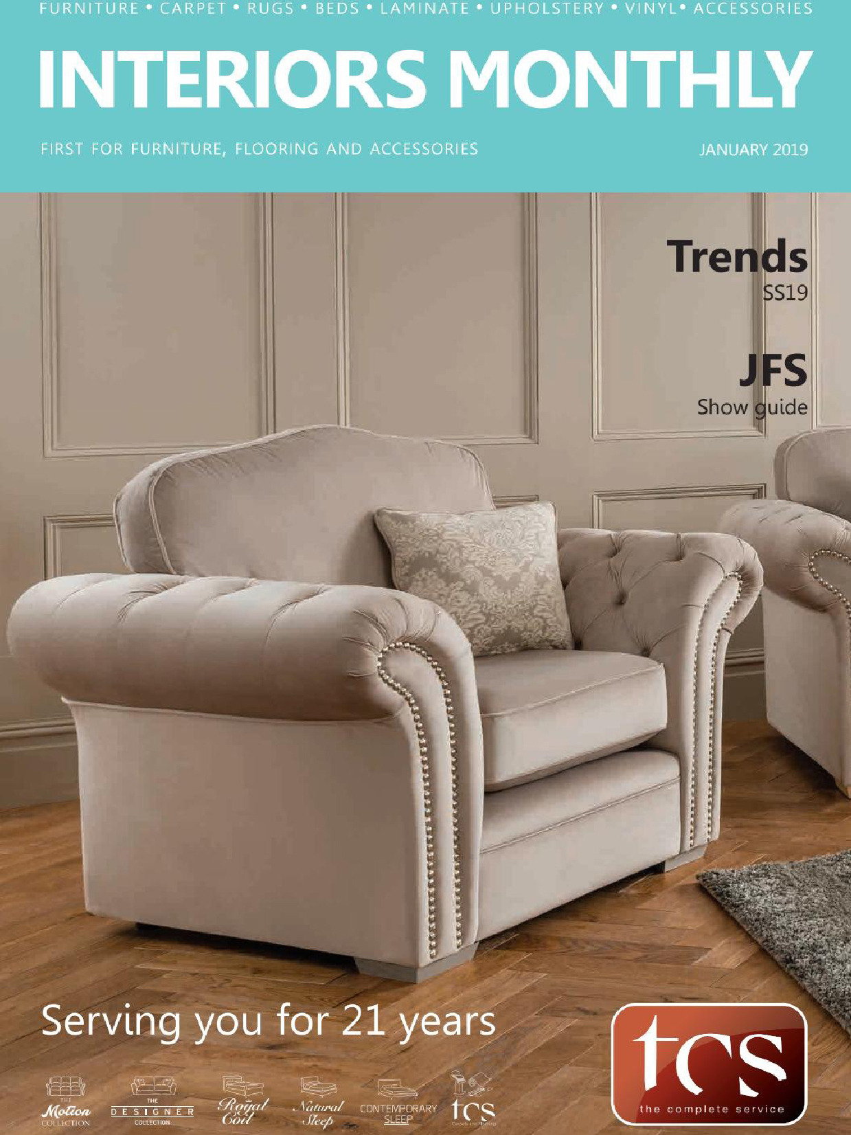 《Interiors Monthly》英国室内设计杂志2019年01月号