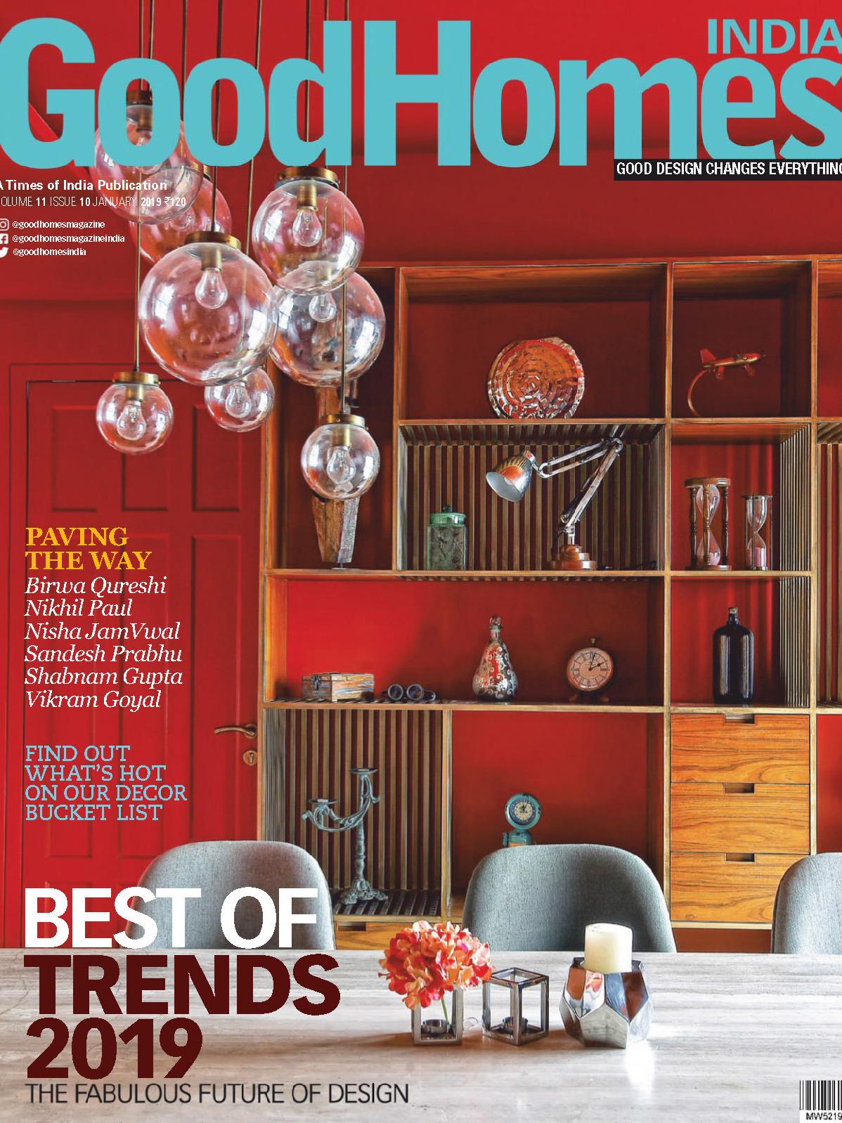 《Good Homes》印度版居家室内设计杂志2019年01月号