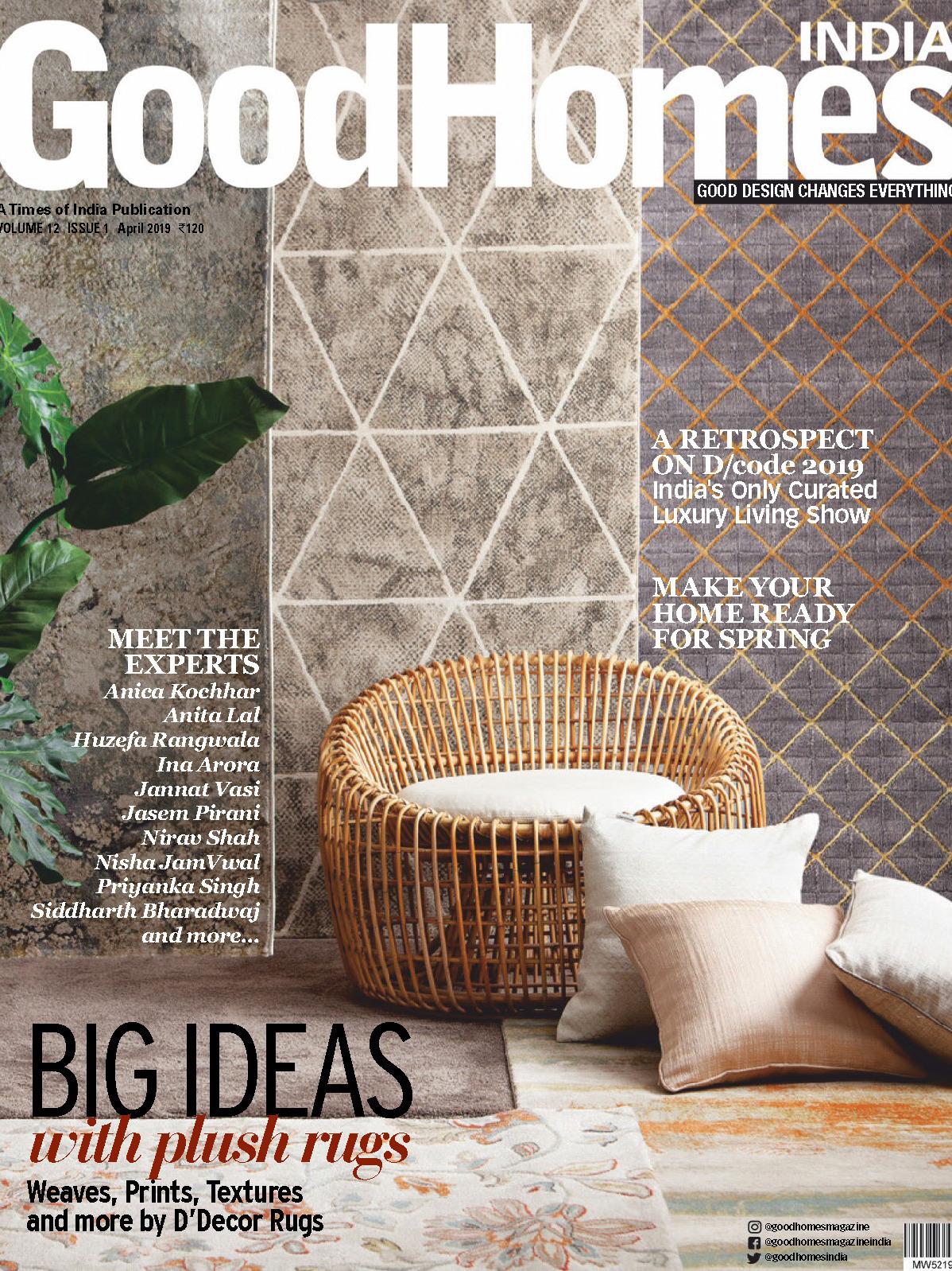 《Good Homes》印度版居家室内设计杂志2019年04月号