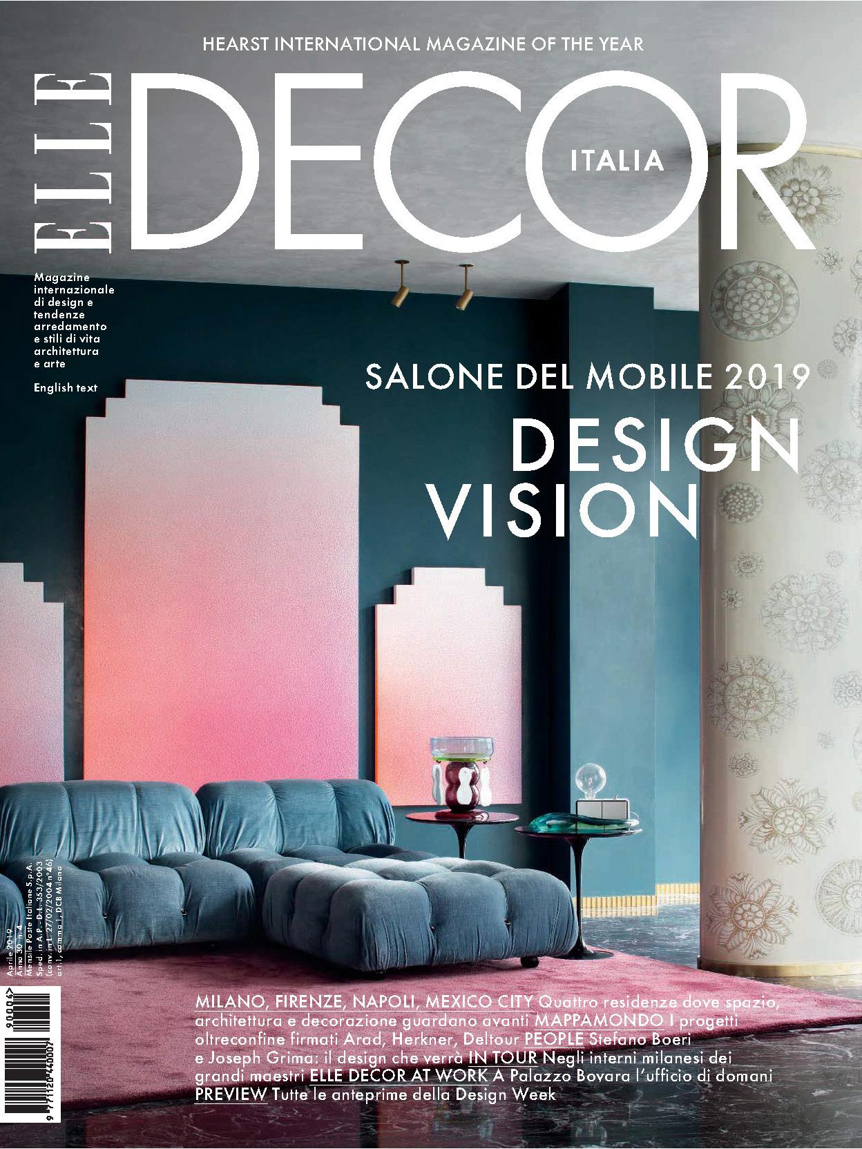《Elle Decor》意大利版时尚家居杂志2019年04月号