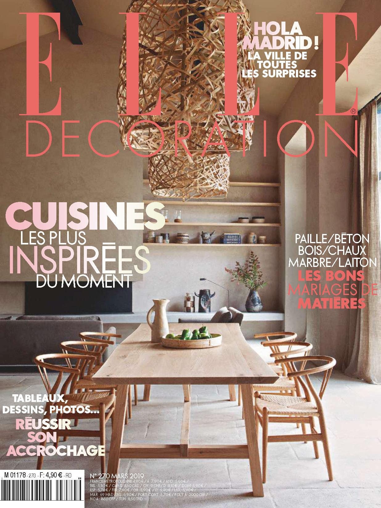 《Elle Decoration》法国版时尚家居杂志2019年03月号