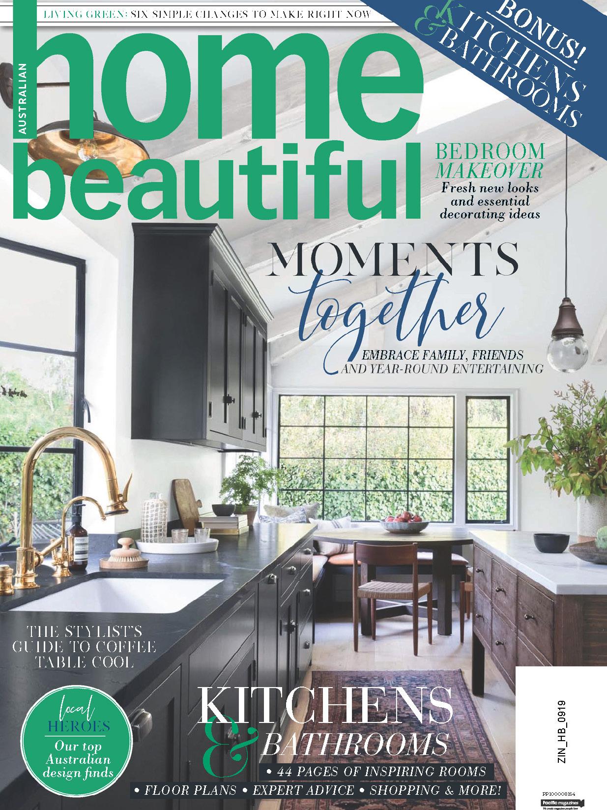 《Home Beautiful》澳大利亚版时尚家居杂志2019年09月号