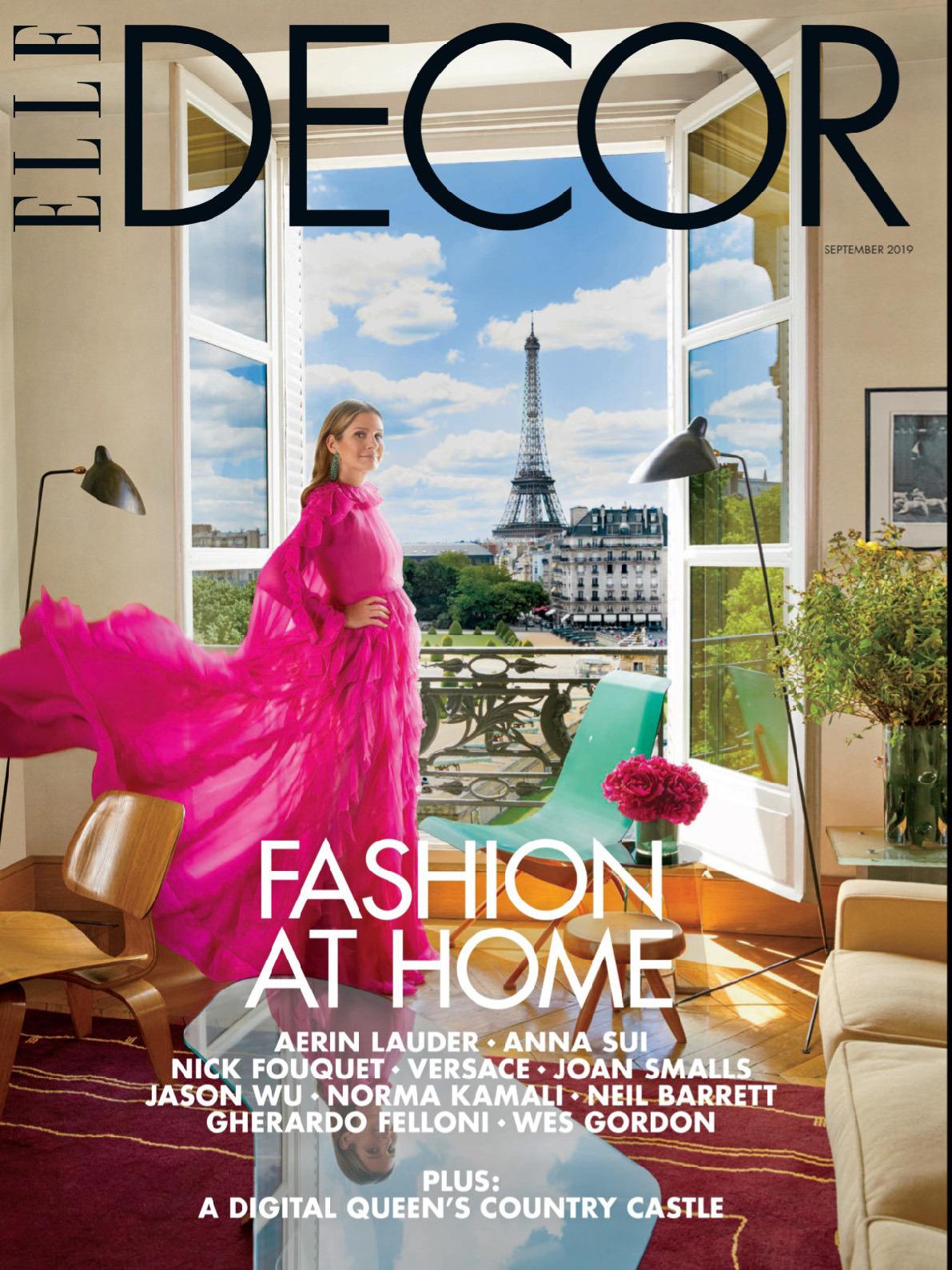 《Elle Decor》美国版时尚家居杂志2019年09月号