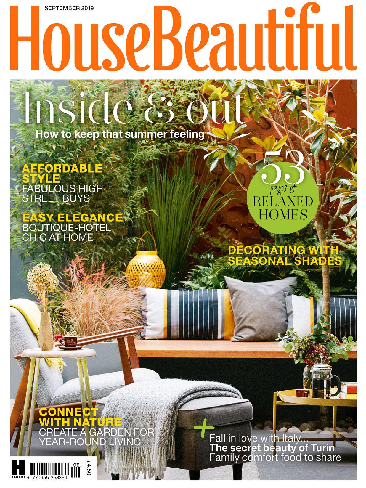 《House Beautiful》英国版时尚家居设计杂志2019年09月号