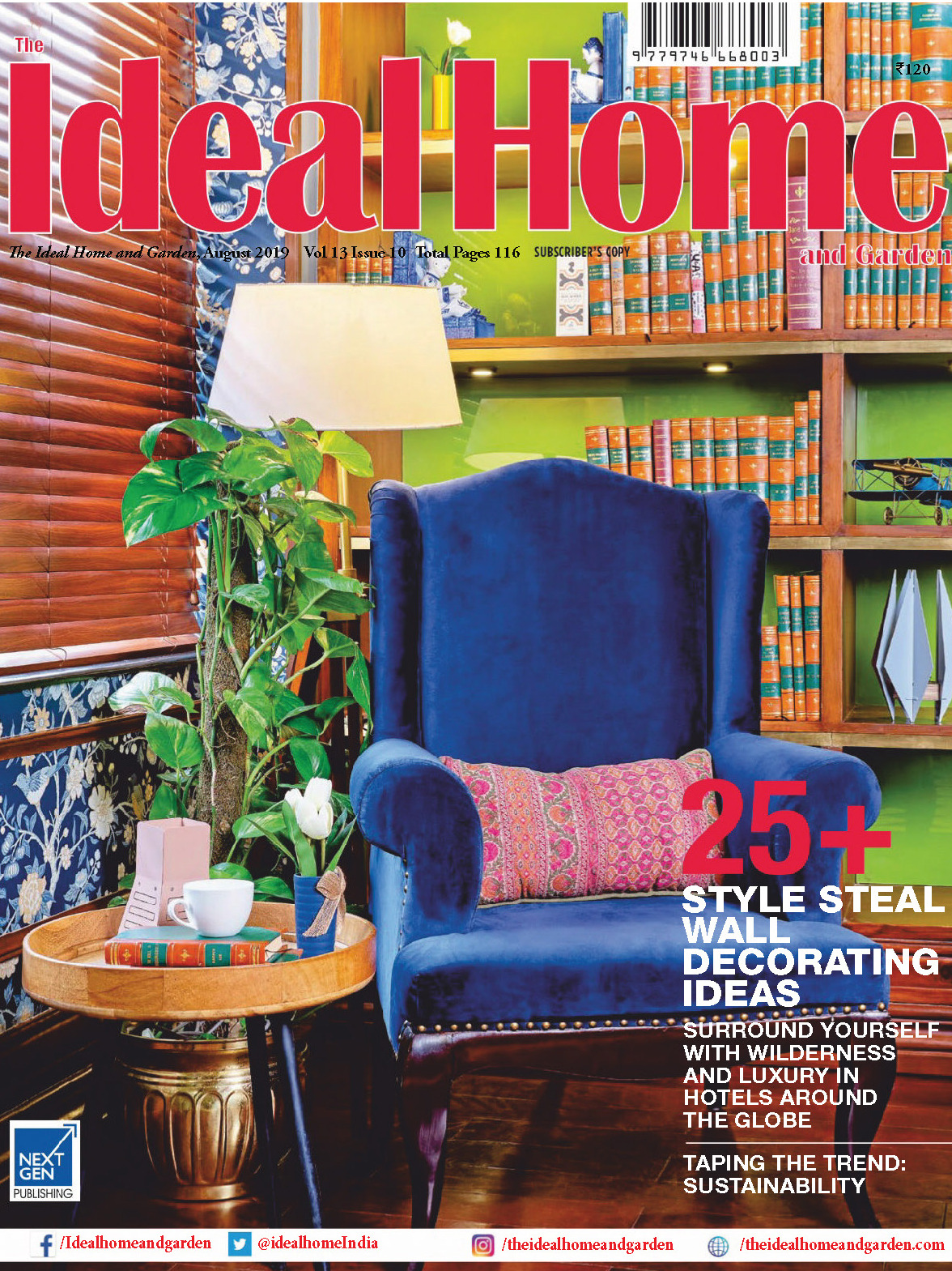 《The Ideal Home and Garden》印度版理想的家园杂志2019年08月号