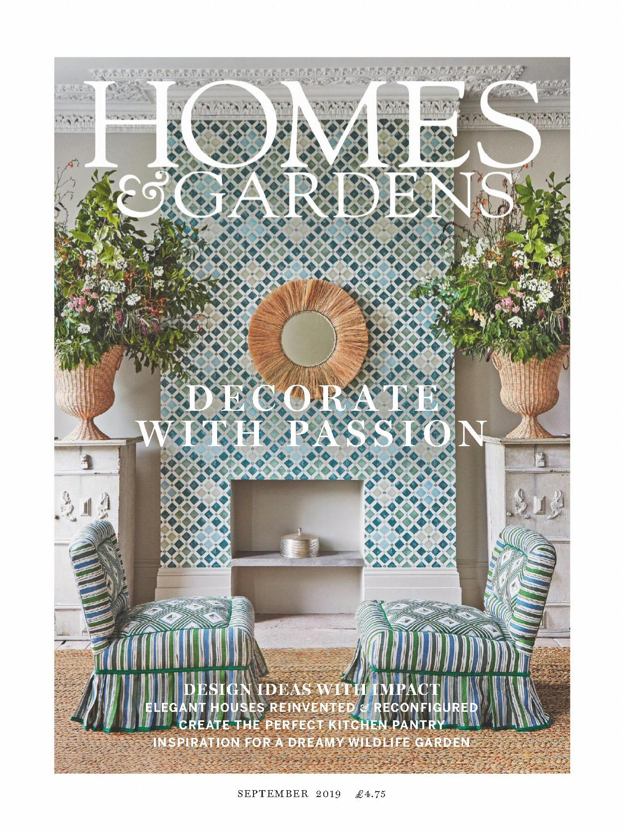 《Homes & Gardens》英国版时尚家居杂志2019年09月号