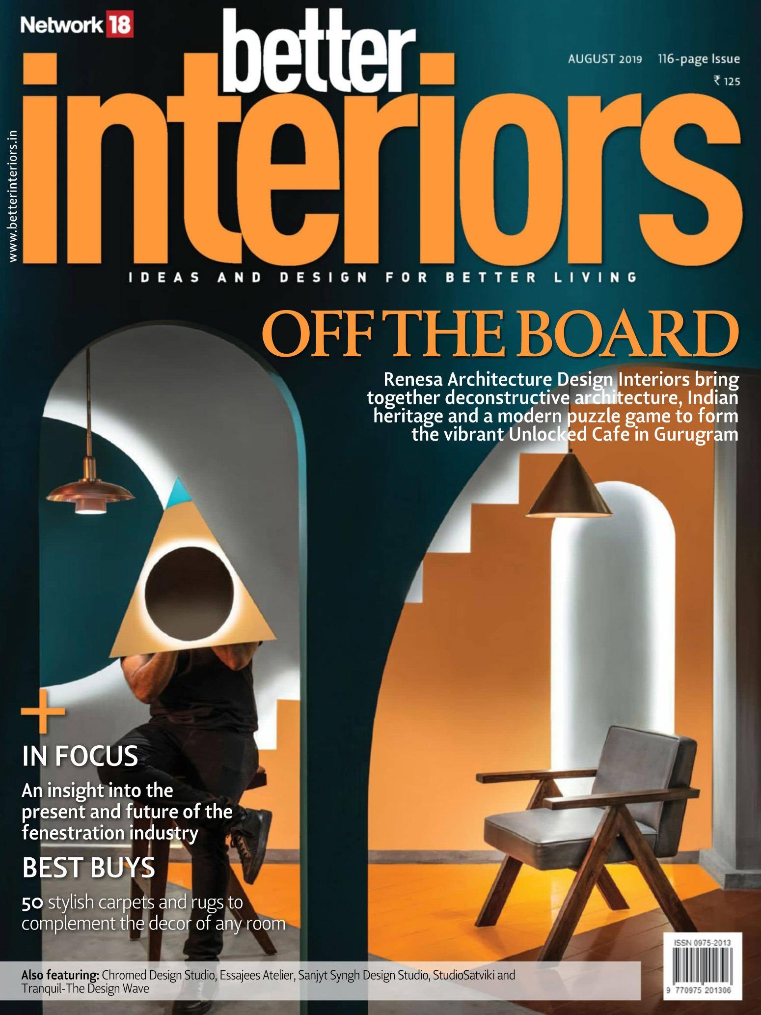 《Better Interiors》印度版时尚家居杂志2019年08月号