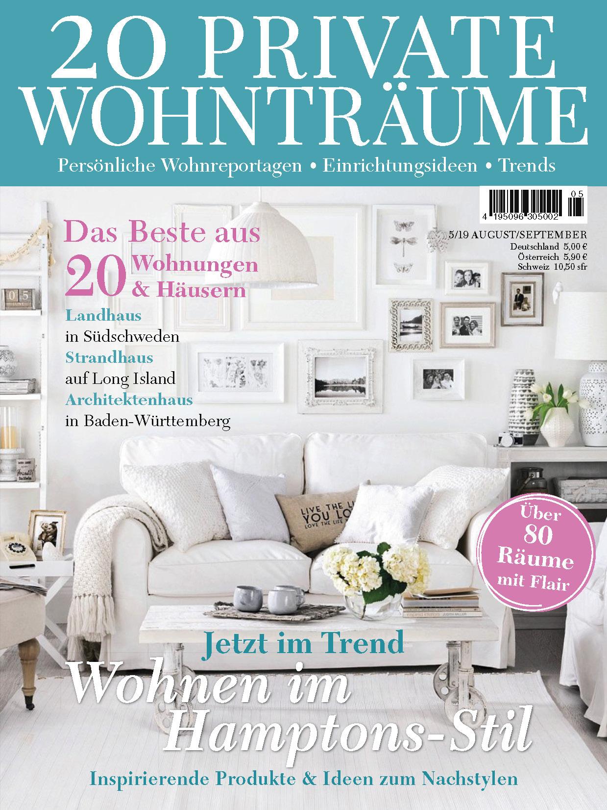 《20 Private Wohntraume》德国版室内室外设计杂志2019年08-09月号