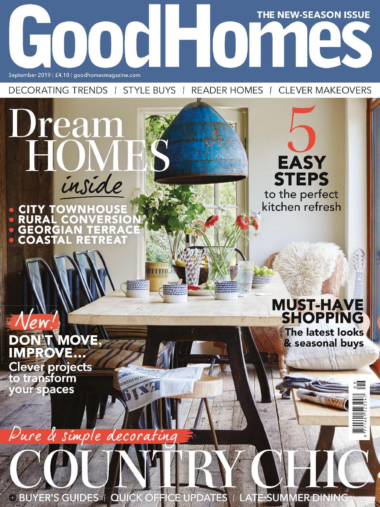 《Good Homes》英国版居家室内设计杂志2019年09月号