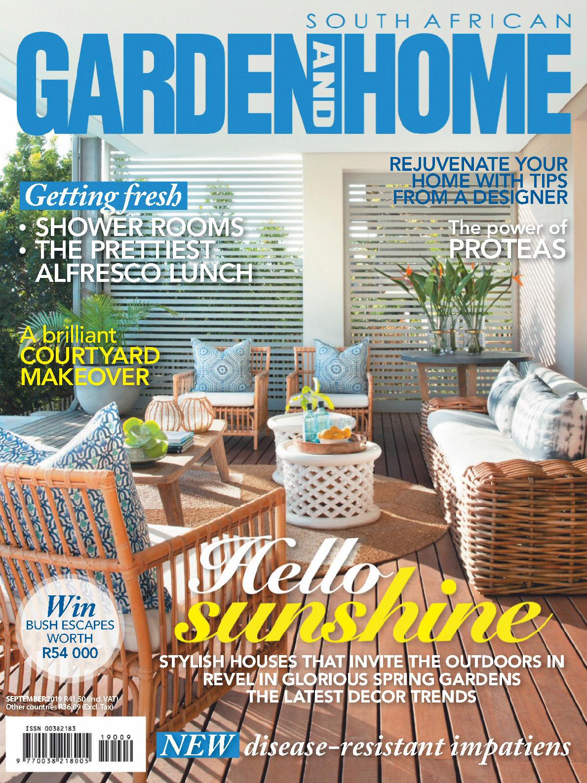 《Garden and Home》南非版时尚家居杂志2019年09月号