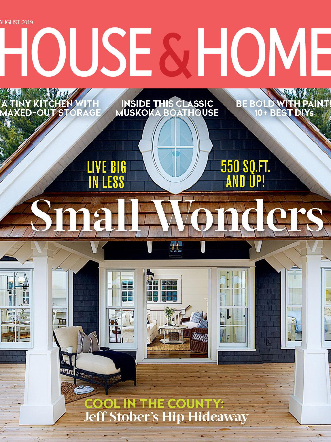 《House & Home》加拿大版时尚家居设计杂志2019年08月号