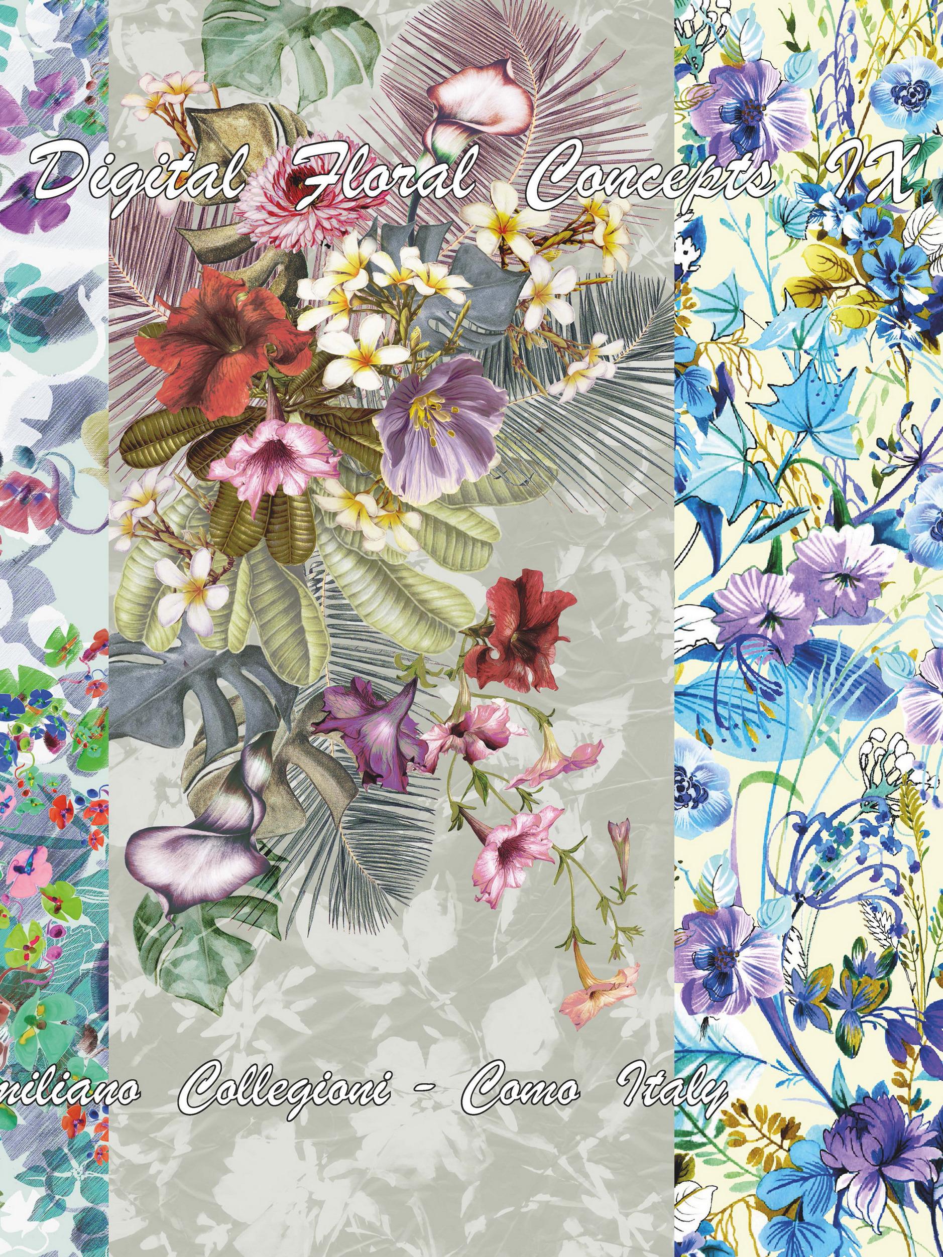 《Digital Floral-Concepts》2020春夏意大利數碼印花面料趨勢手稿(Vol.10)