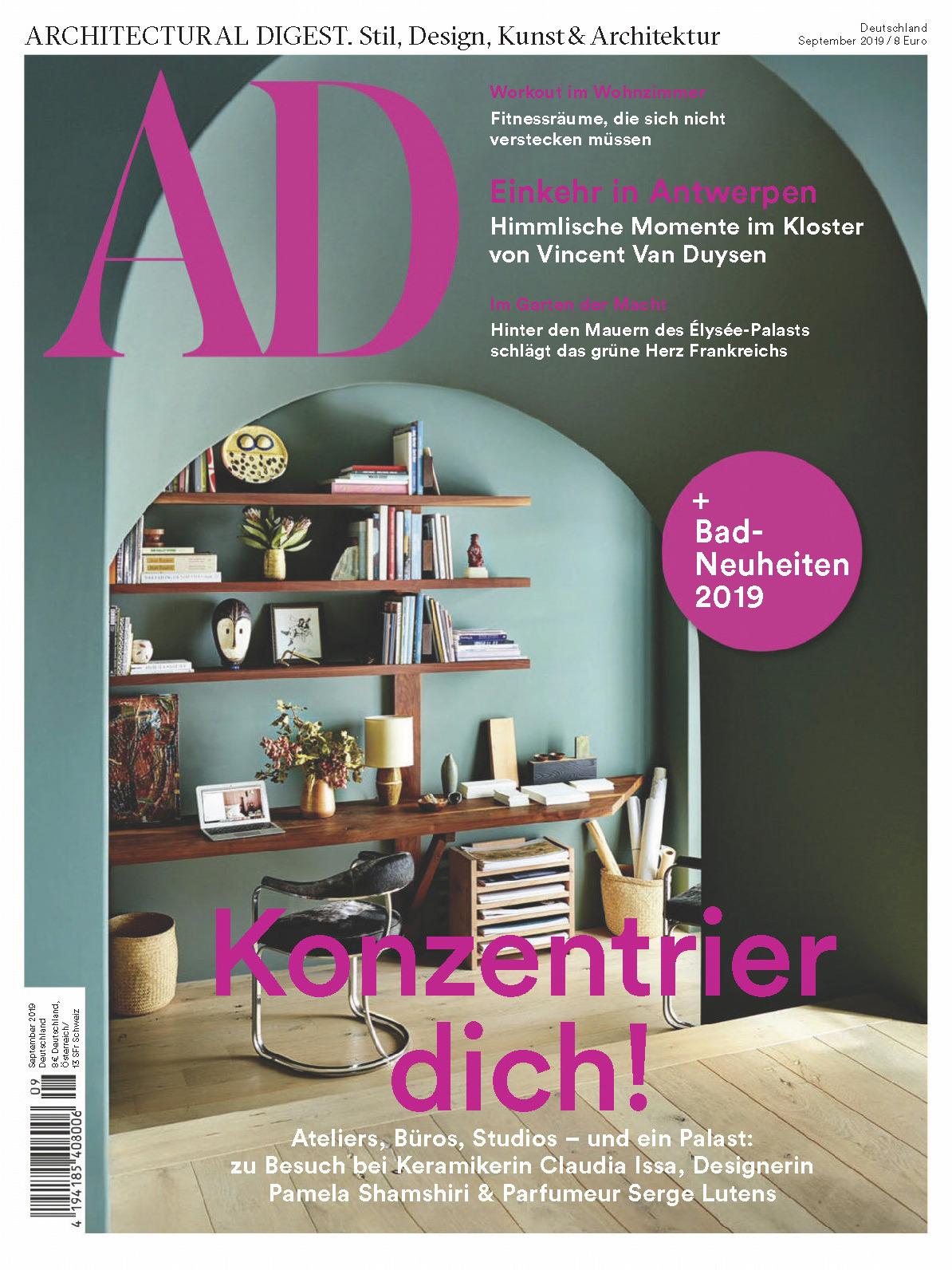《AD》德国版室内室外设计杂志2019年09月号