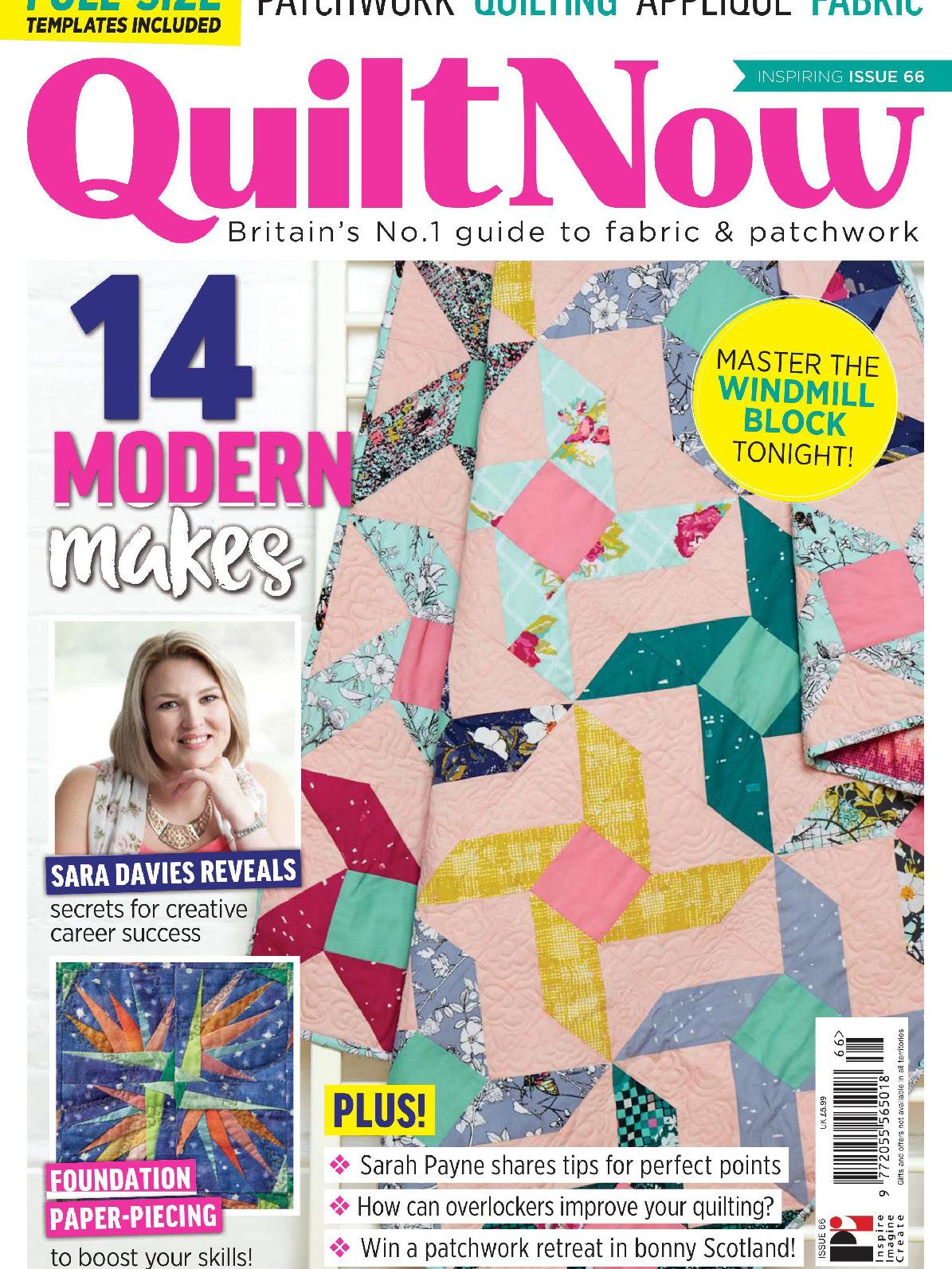 《Quilt Now》英国版时尚拼布杂志2019年09月号
