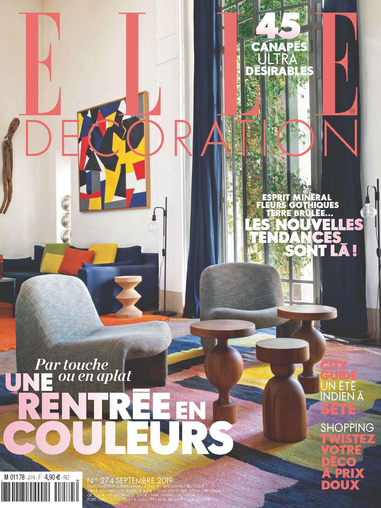 《Elle Decoration》法國版時尚家居雜志2019年09月號
