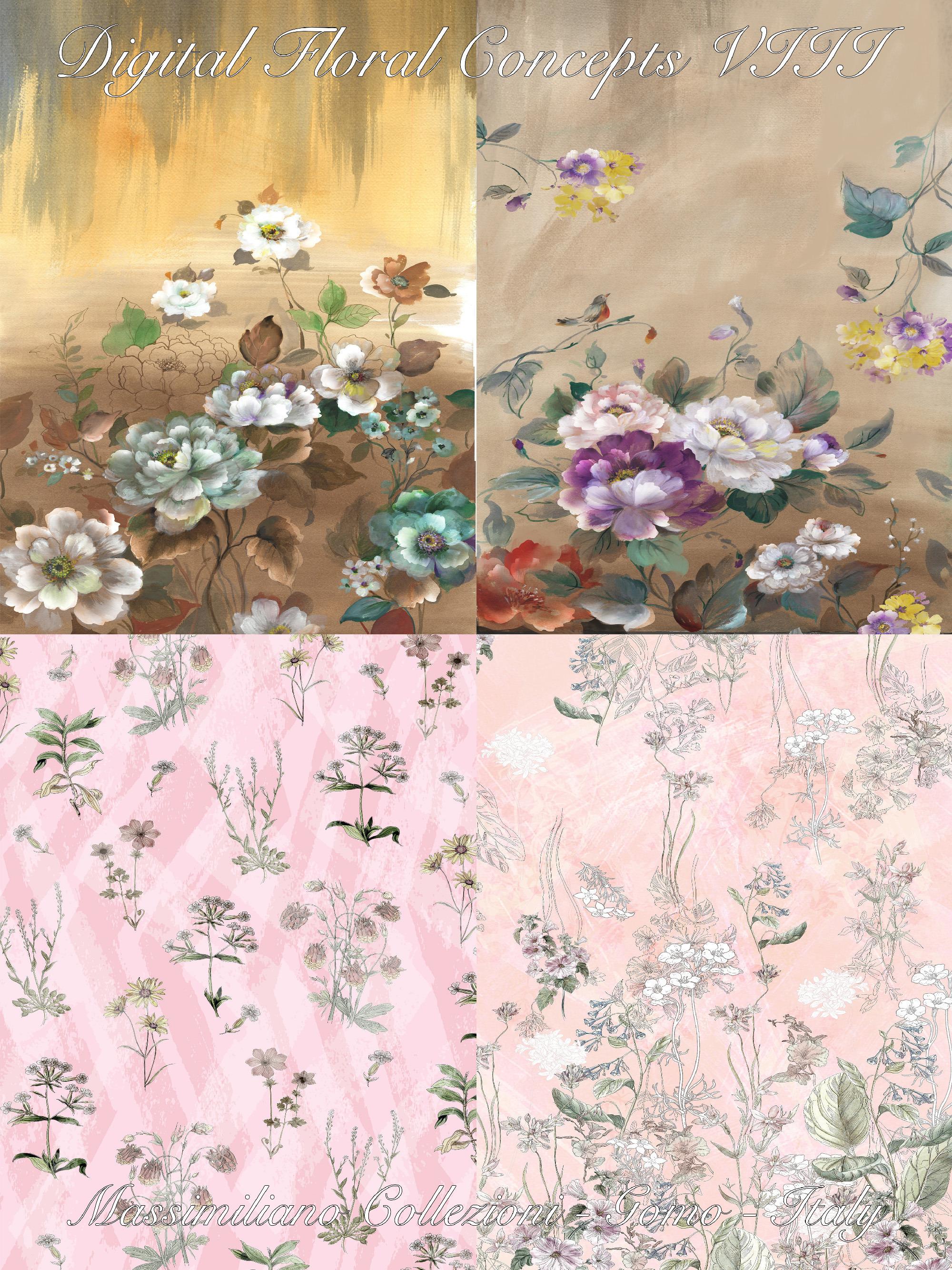 《Digital Floral-Concepts》2020春夏意大利數碼印花面料趨勢手稿(Vol.8)