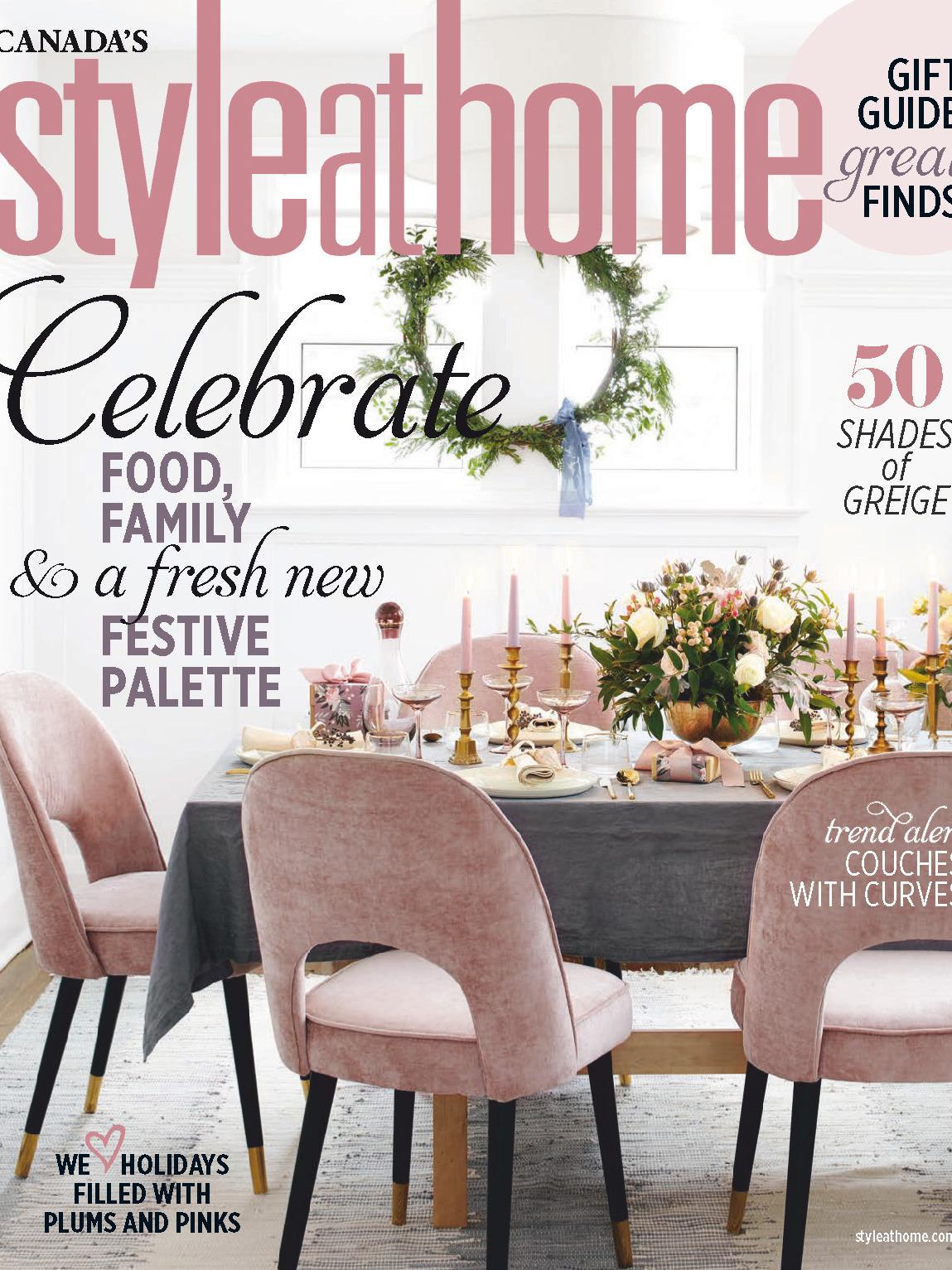 《Style at Home》加拿大版时尚家居杂志2019年11月号