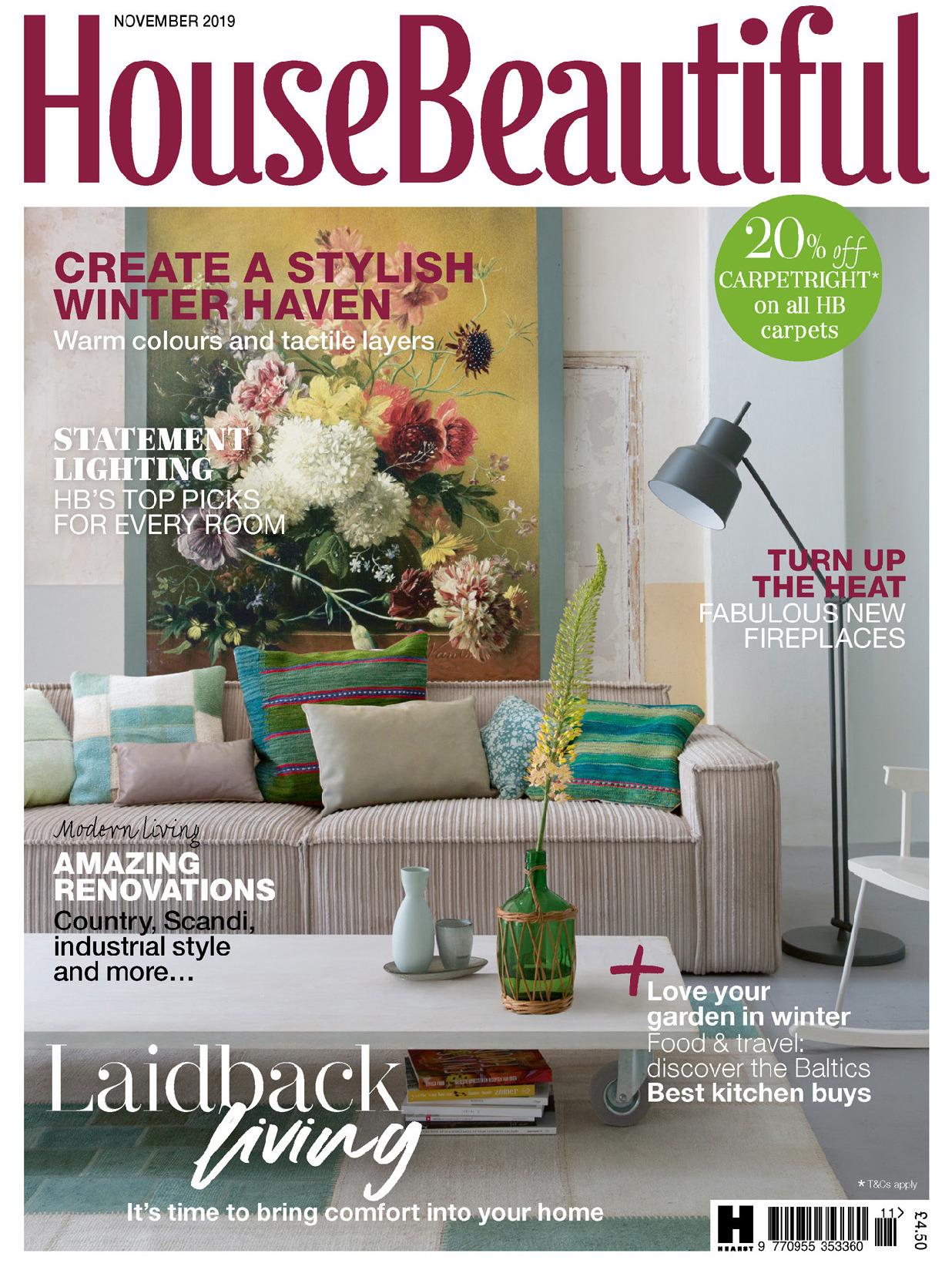 《House Beautiful》英國版時尚家居設計雜志2019年11號