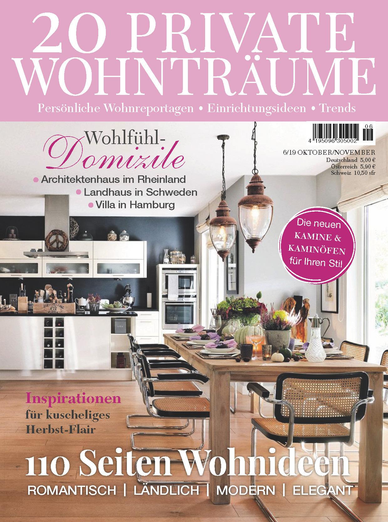 《20 Private Wohntraume》德国版室内室外设计杂志2019年10-11月号