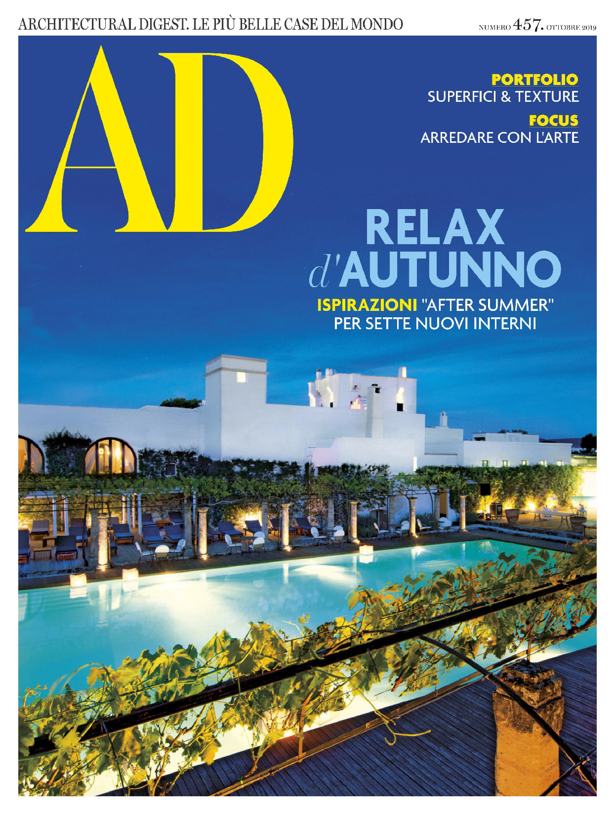 《AD》意大利版室内室外设计杂志2019年10月号