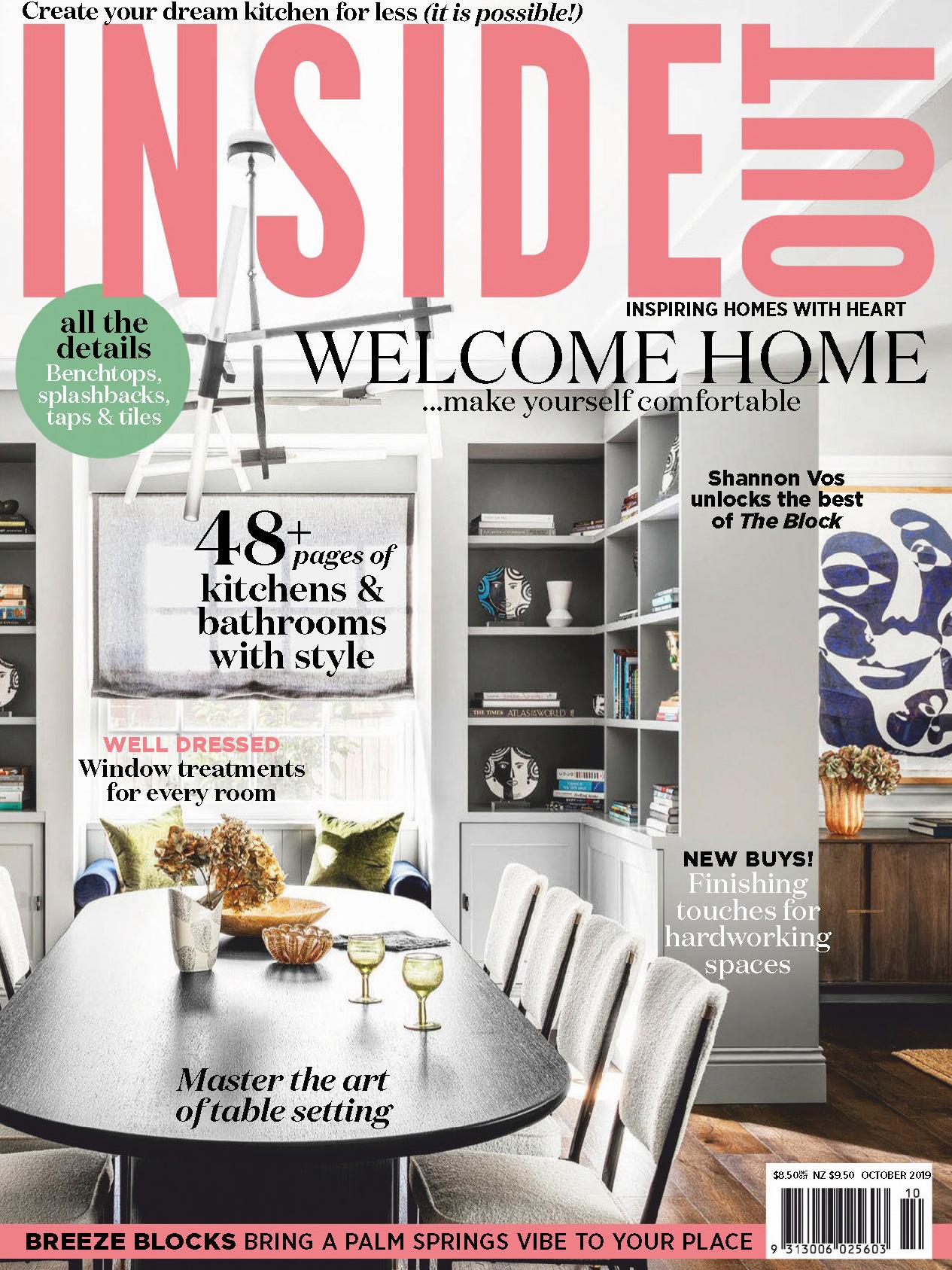 《Inside Out》澳大利亚室内时尚杂志2019年10月号