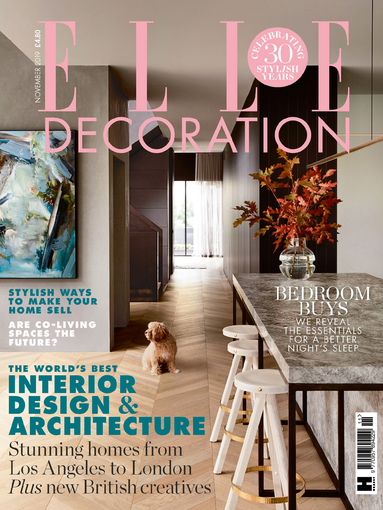 《Elle Decoration》英国版时尚家居杂志2019年11月号