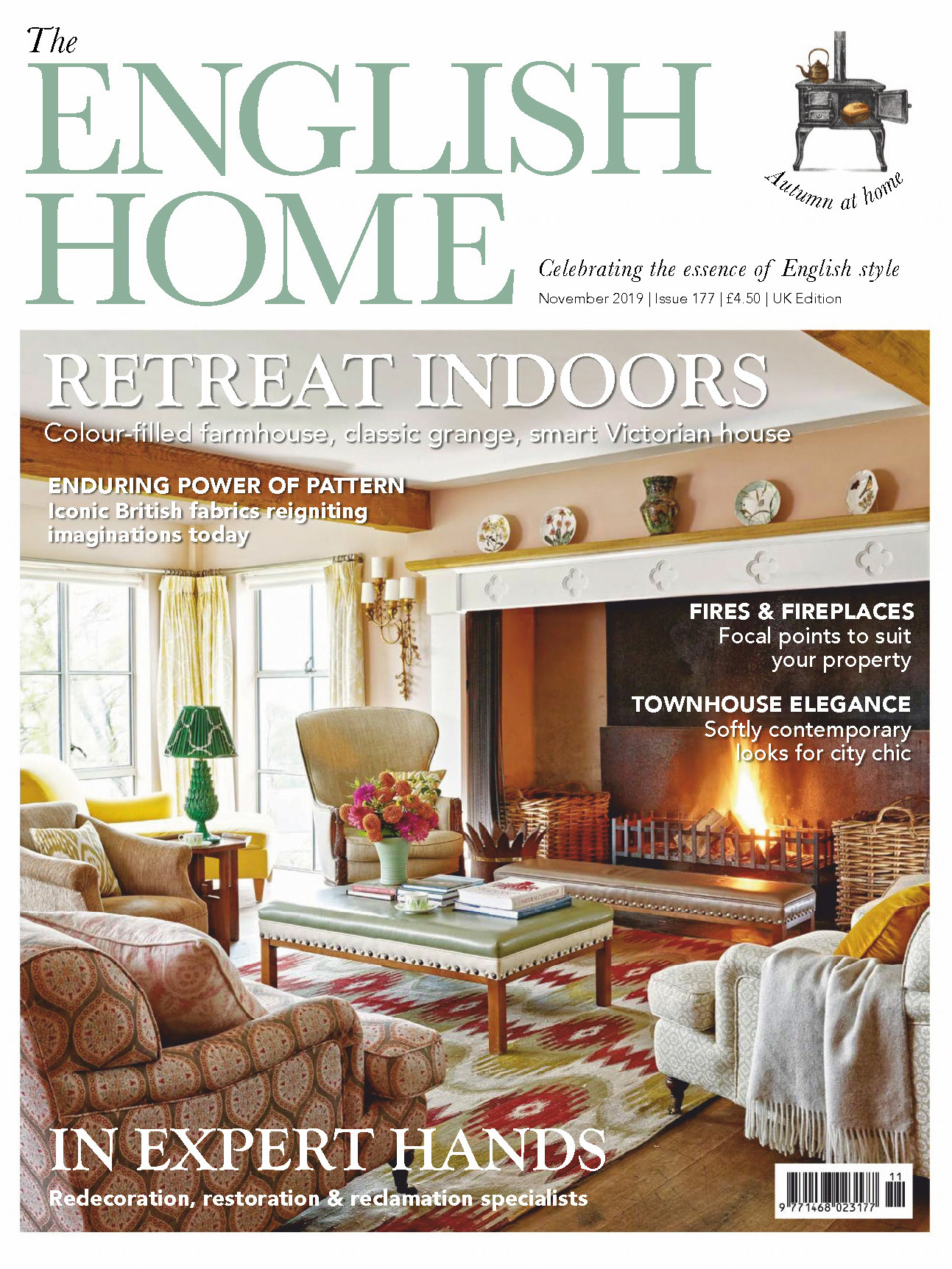 《The English Home》英国版时尚家居杂志2019年11月号