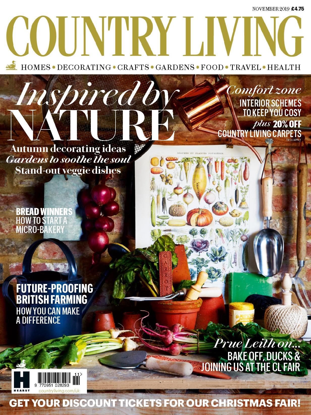 《Country Living 》英國版時尚家居雜志2019年11月號