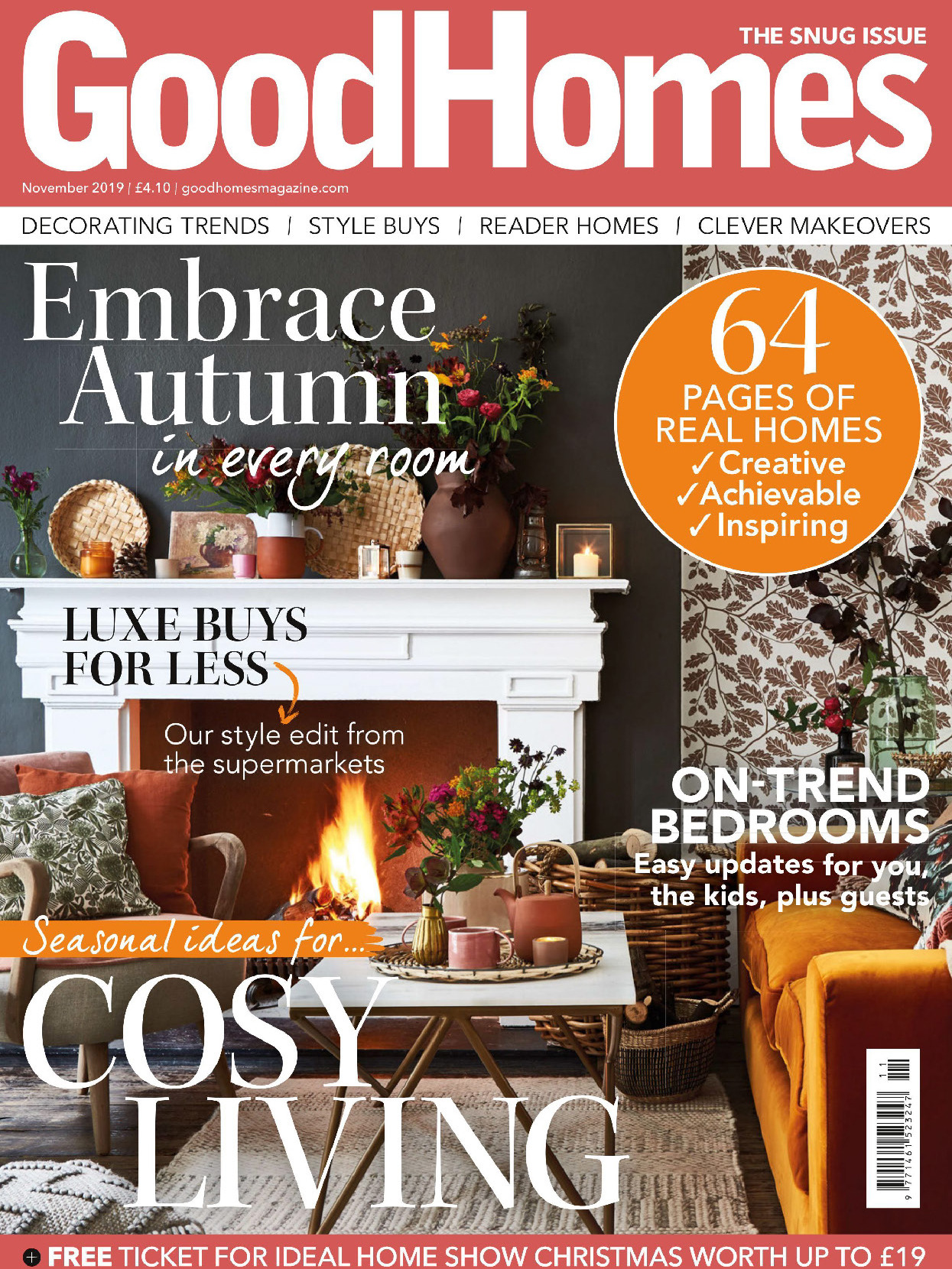 《Good Homes》英国版居家室内设计杂志2019年11月号