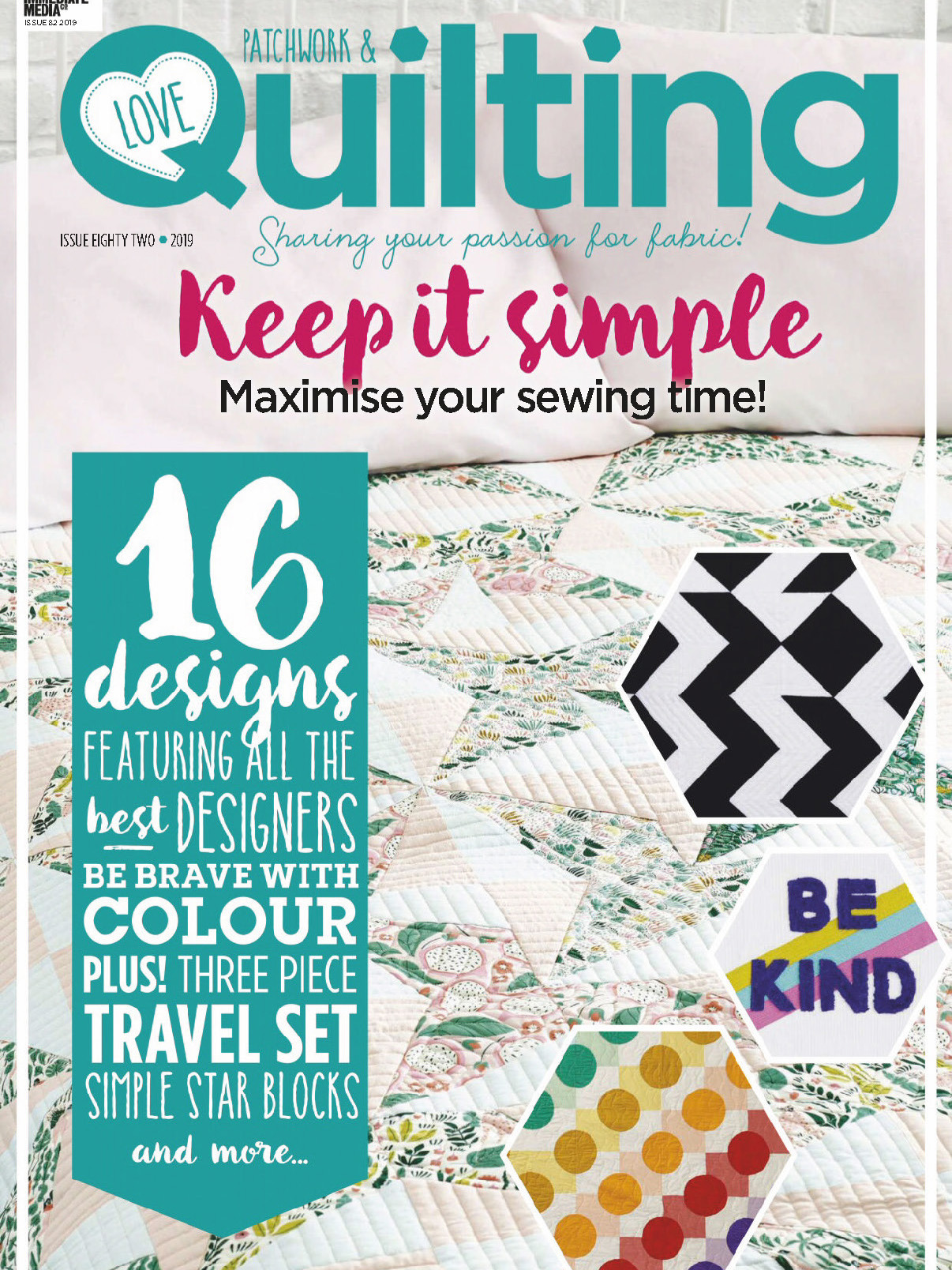 《Love Patchwork & Quilting》英国版时尚拼布杂志2020年01月号