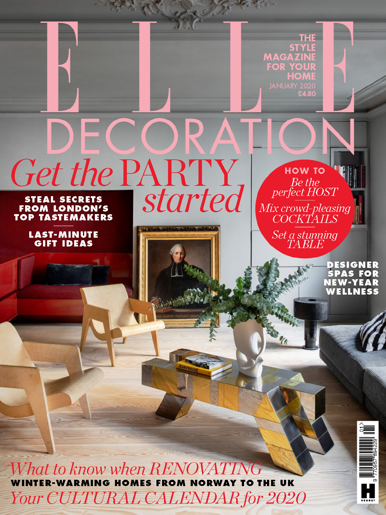 《Elle Decoration》英国版时尚家居杂志2020年01月号