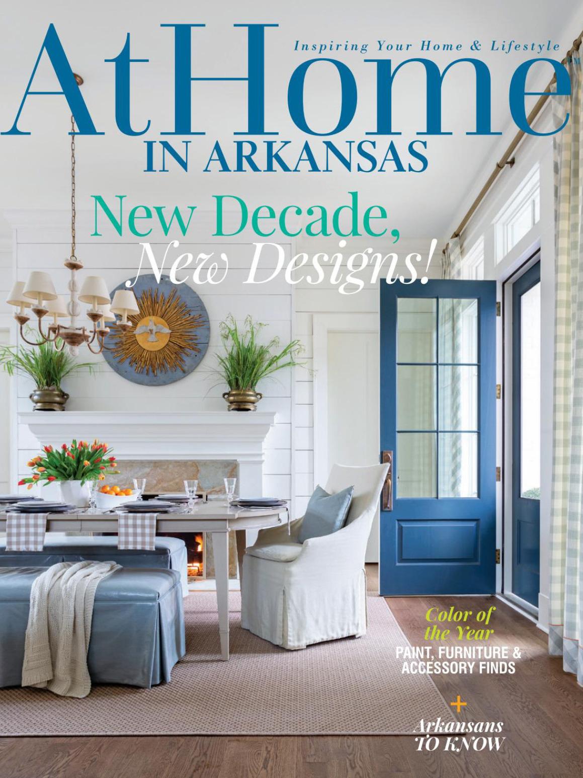 《At Home In Arkansas》美国室内时尚杂志2020年01月-2020年02月号