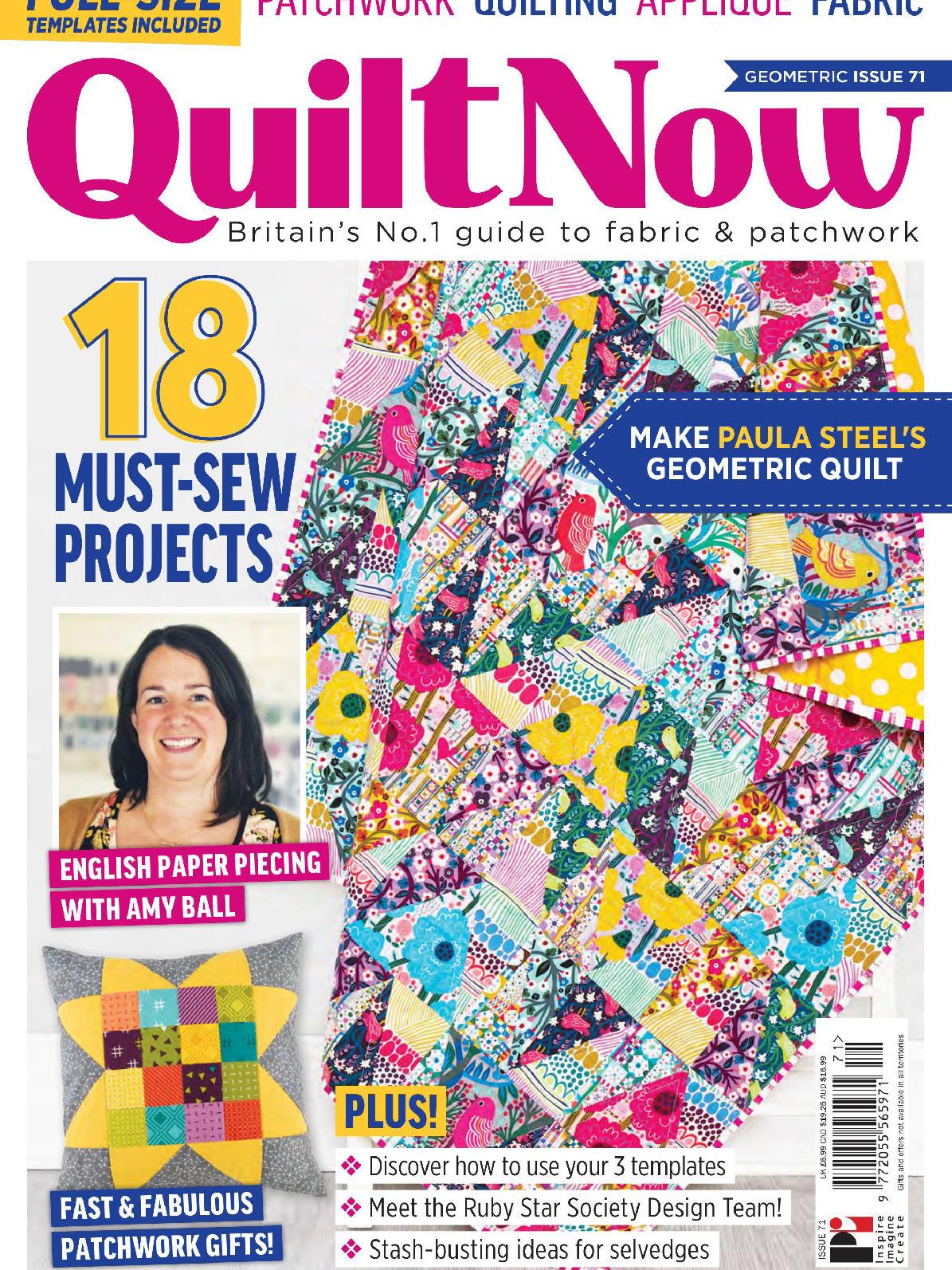 《Quilt Now》英国版时尚拼布杂志2020年02月号
