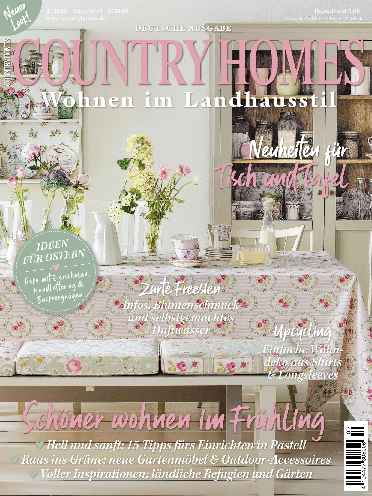 《Country Homes》德国版时尚家居杂志2020年03-04月号