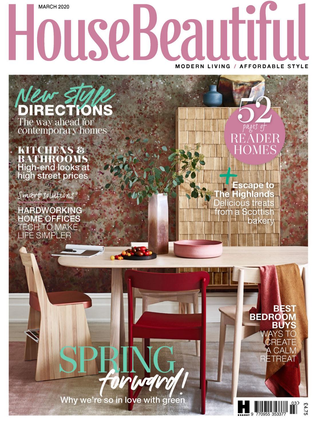 《House Beautiful》英国版时尚家居设计杂志2020年03月号
