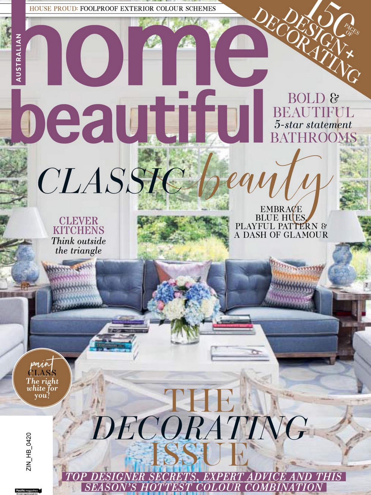 《Home Beautiful》澳大利亚版时尚家居杂志2020年04月号
