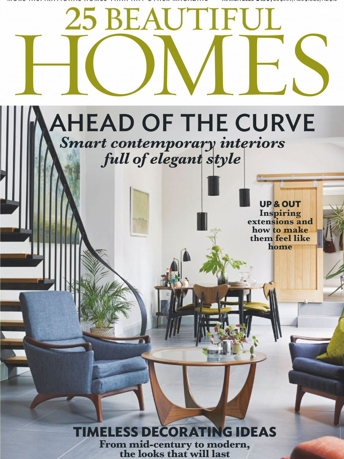 《25 Beautiful Homes》英国版时尚家居设计杂志2020年03月号