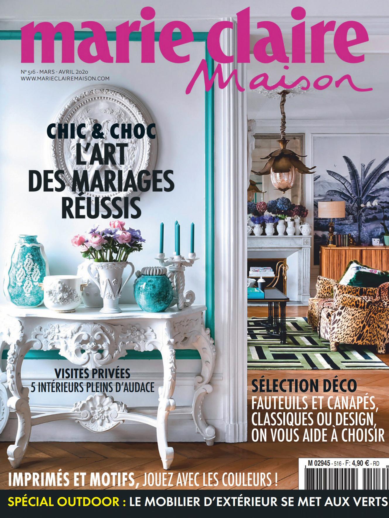 《Marie Claire maison》法国版时尚室内设计杂志2020年03-04月号