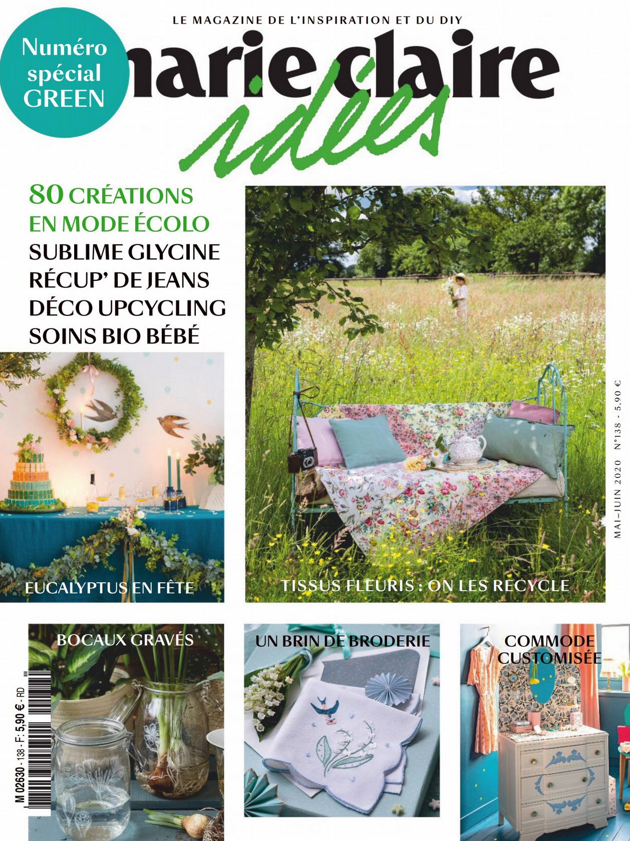 《Marie Claire Idees》法国版时尚综合杂志2020年05-06月号