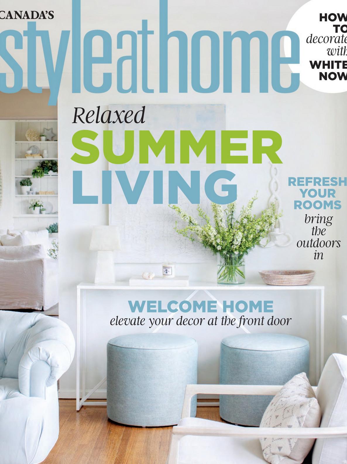 《Style at Home》加拿大版时尚家居杂志2020年07月号