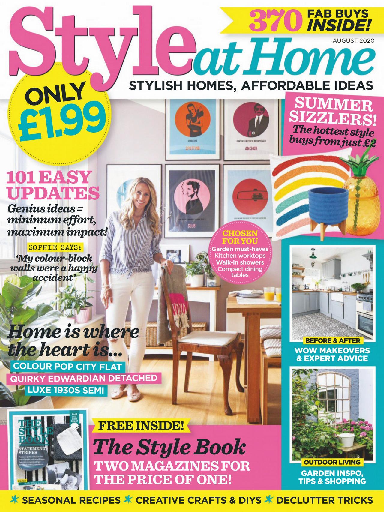 《Style at Home》英国版时尚家居杂志2020年08月号