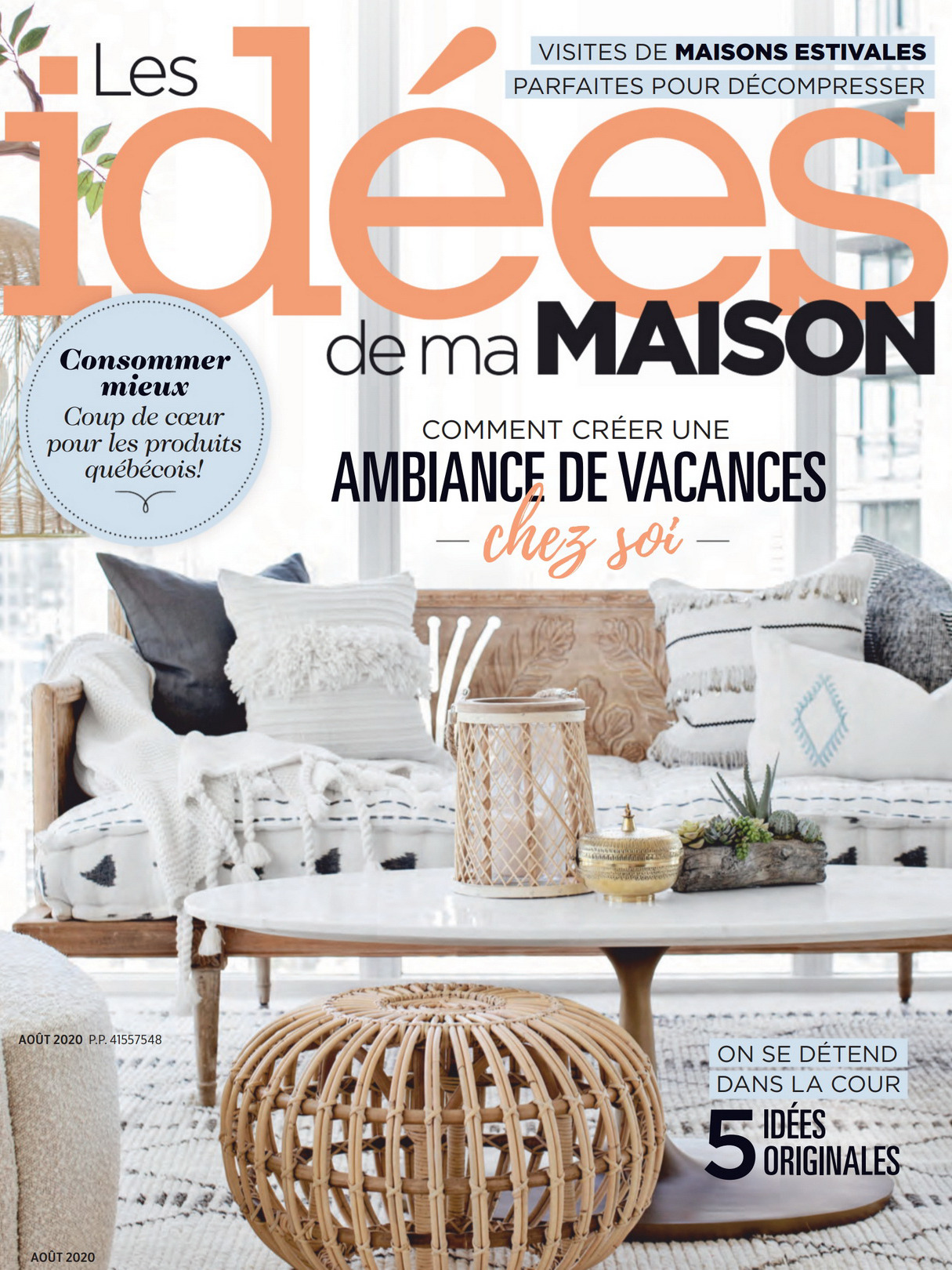 《Les Idees de ma Maison》加拿大版时尚家居杂志2020年08月号