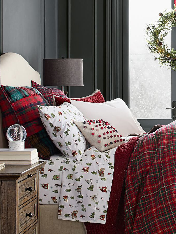 《Pottery Barn》2020秋冬圣诞节主题床上用品系列Lookbook