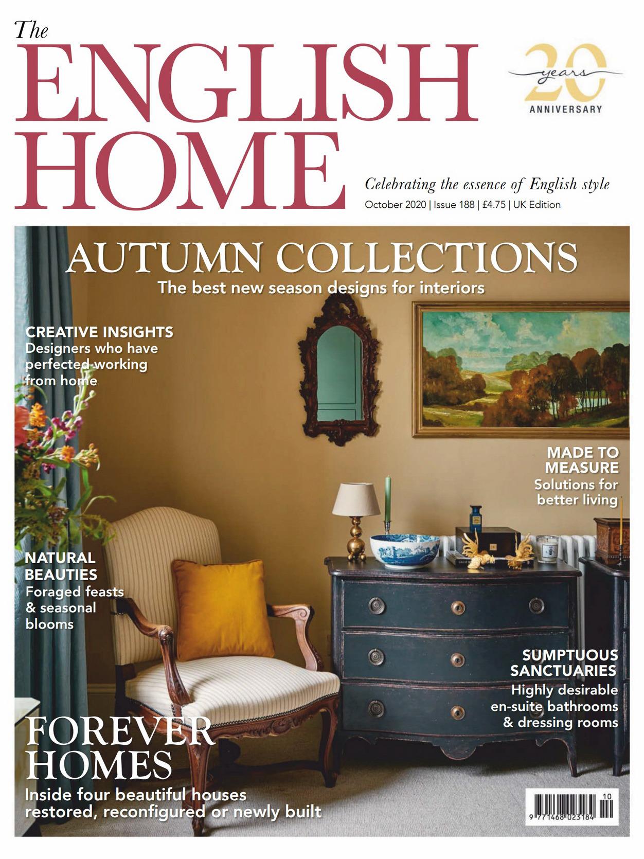 《The English Home》英国版时尚家居杂志2020年10月号