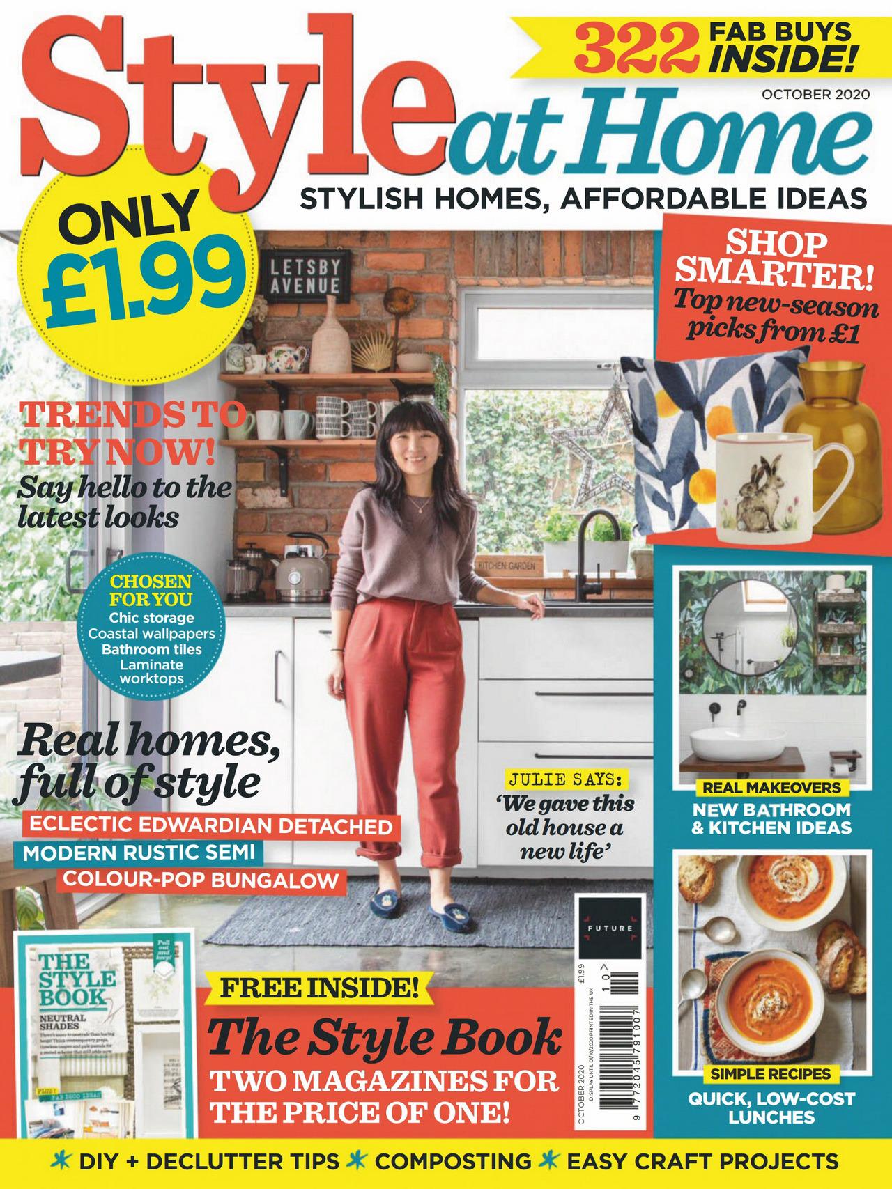 《Style at Home》英国版时尚家居杂志2020年10月号
