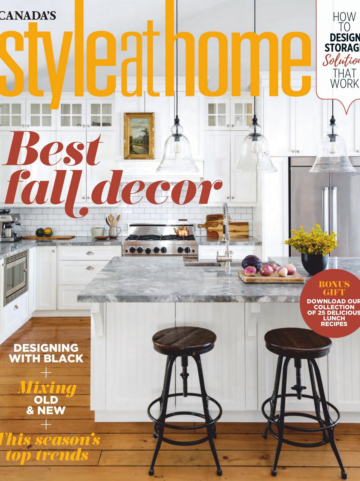 《Style at Home》加拿大版时尚家居杂志2020年10月号